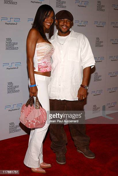Rockmond Dunbar and Ivy Holmes during Play Station 2 and Mark Wahlberg Host Celebrity Gaming Tournament for Charity Arrivals at Club Ivar in...
