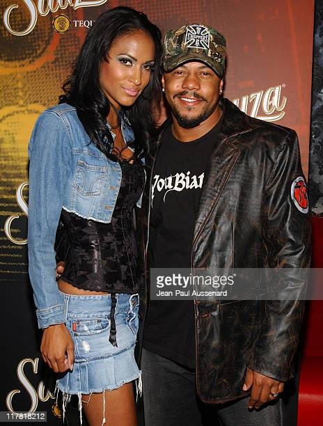 Rockmond Dunbar and Ivy Holmes during Sauza Tequila Cinco de Mayo Celebration Hosted by Carmen Electra Arrivals at The Velvet Margarita in Hollywood...