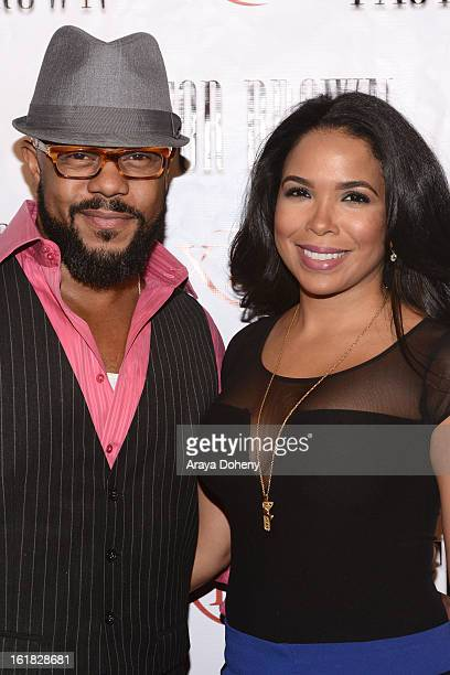 Rockmond Dunbar and Maya Gilbert arrive at the premiere of Lifetime Television's Pastor Brown at Xen Lounge on February 16 2013 in Los Angeles...