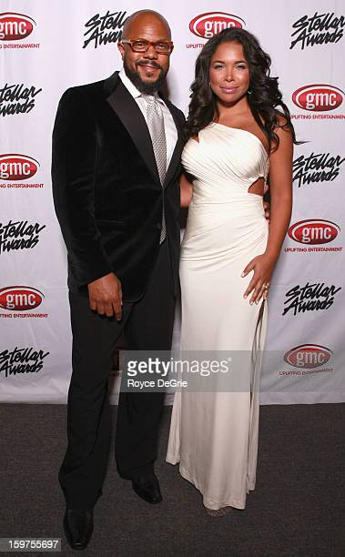 Rockmond Dunbar and Maya Gilbert attend the 28th Annual Stellar Awards at Grand Ole Opry House on January 19 2013 in Nashville Tennessee