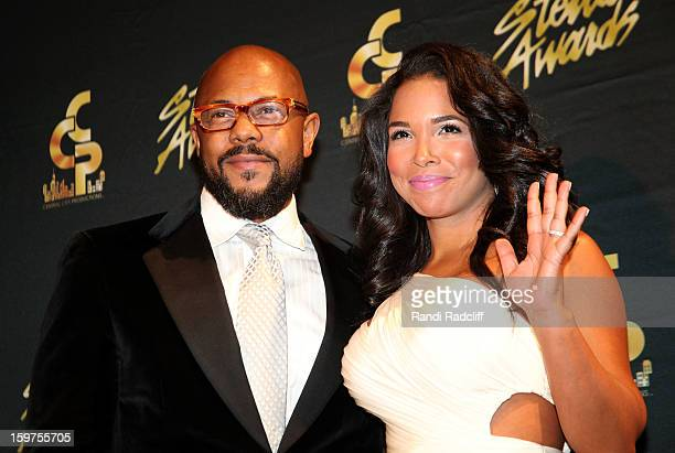 Rockmond Dunbar and Maya Gilbert attend the 28th Annual Stellar Awards Press Room at Grand Ole Opry House on January 19 2013 in Nashville Tennessee