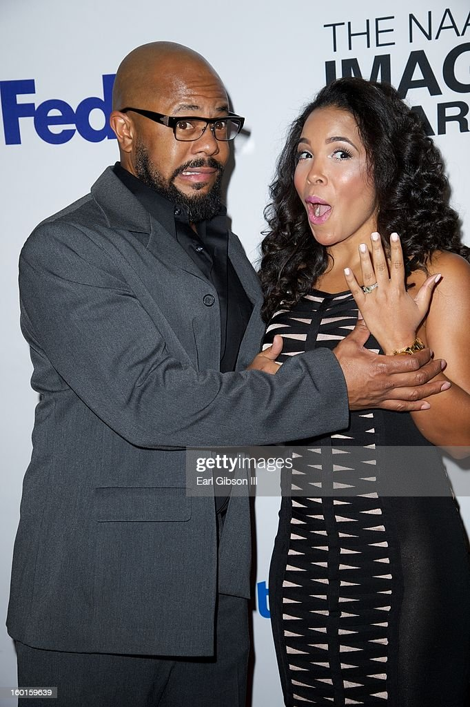 Rockmond Dunbar and Maya Gilbert attend the NAACP Image Awards Nominee's Luncheon at Montage Beverly Hills on January 26, 2013 in Beverly Hills, California.