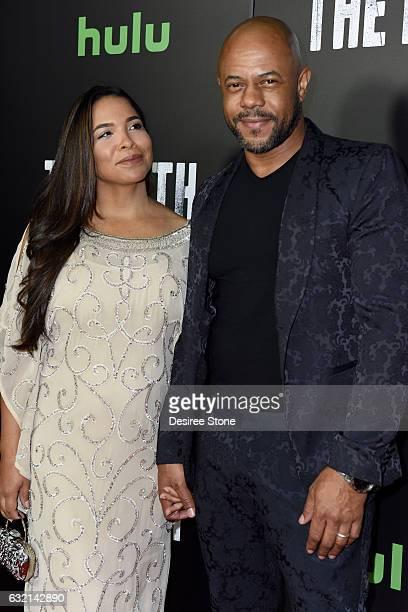 Rockmond Dunbar and wife Maya Gilbert attend the premiere of Hulu's The Path Season 2 at Sundance Sunset Cinema on January 19 2017 in Los Angeles...