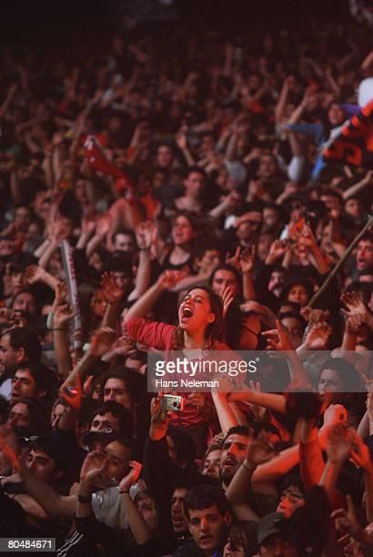 Rock?n roll fans in rock show