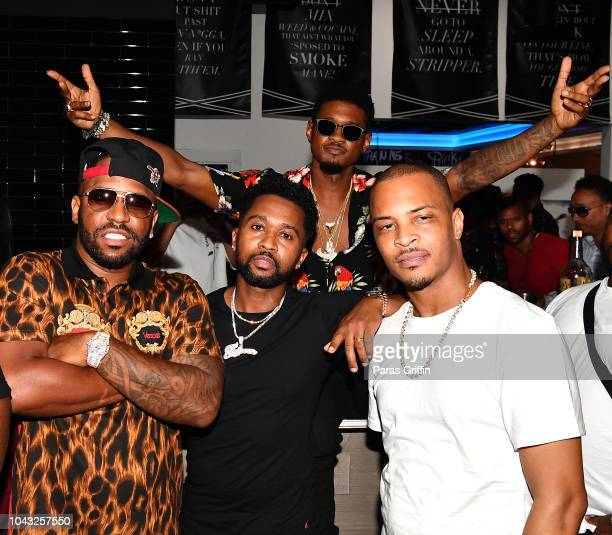 Rocko Zaytoven Usher and TI attend Trap Music Museum VIP Preview at Trap Music Museum on September 29 2018 in Atlanta Georgia