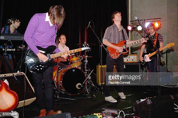 Rock/Pop band Starky performs at the BigPond Music Winners Event at the Museum Of Contemporary Art on March 8, 2006 in Sydney, Australia