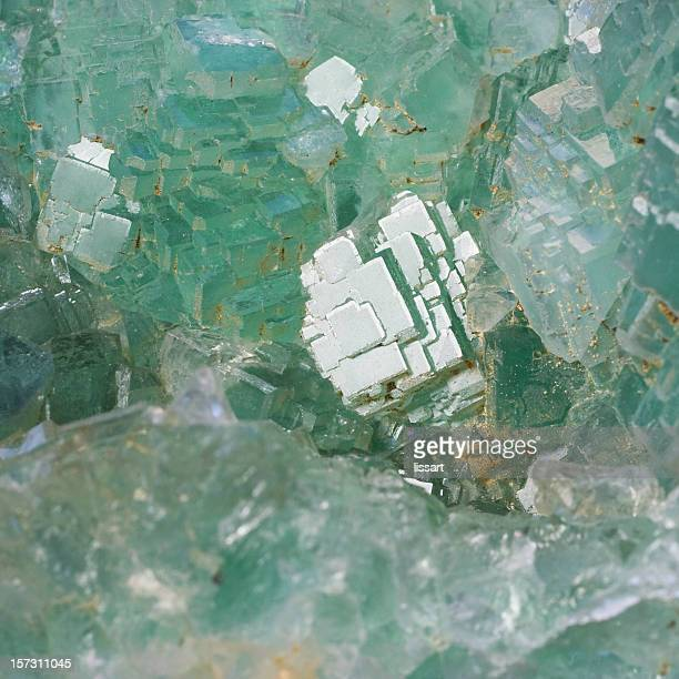 rocks and minerals - fluorite - fluorite stock pictures, royalty-free photos & images