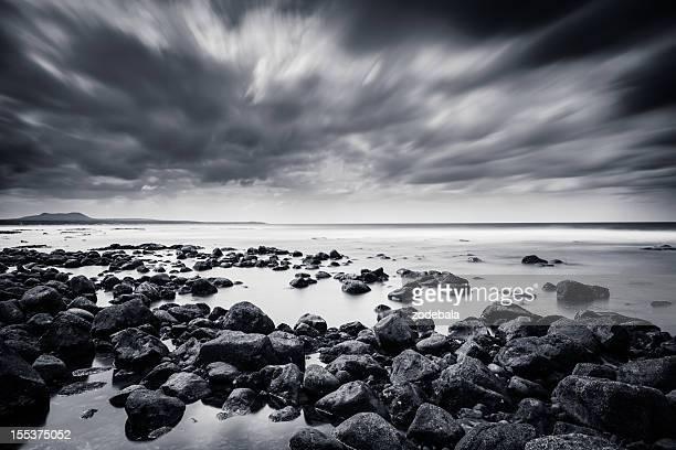 Rocks and Sea in Black & White, Canary Island