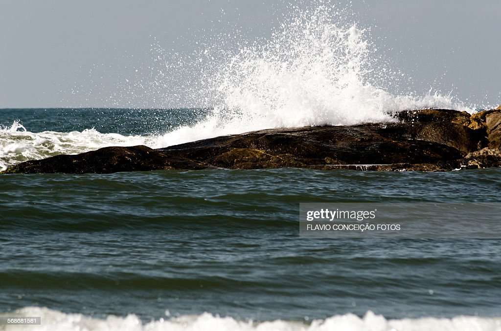 Rocks and waves sea : Stock Photo