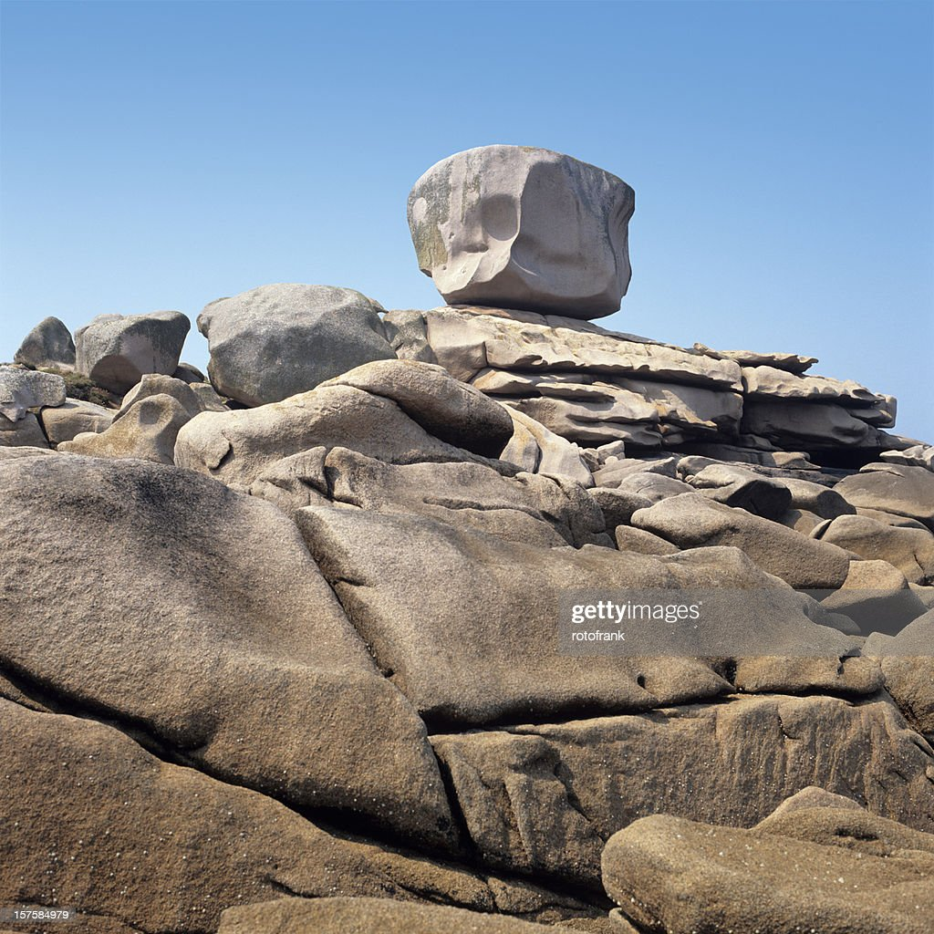 Rocks At The Cote De Granite Rose Stock Photo | Getty Images