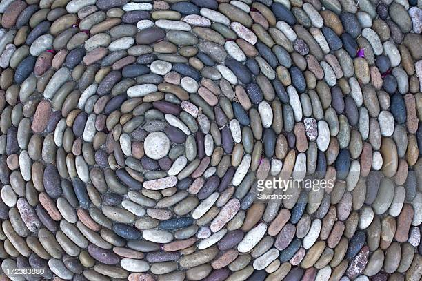 rocks in a circle - pebble stock photos and pictures