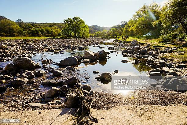 rocks in lake against sky - andres ruffo stock pictures, royalty-free photos & images