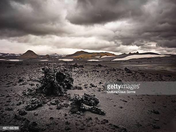 Rocks in lava field