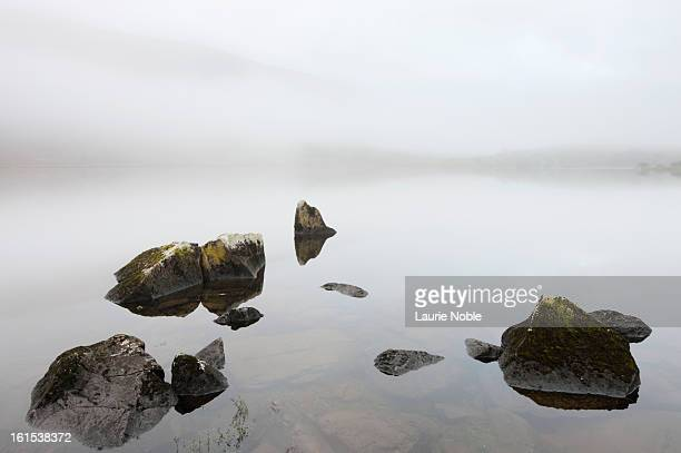 Rocks in Llynnau Mymbyr, Snowdonia, Wales