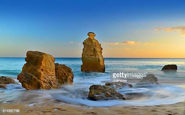 Rocks in Marinha beach