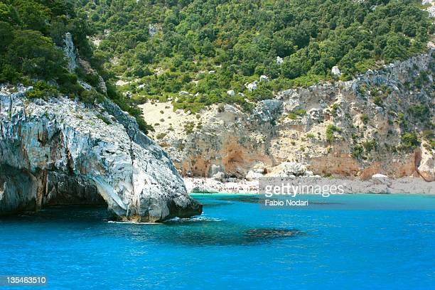 rocks in sea - cala goloritze foto e immagini stock
