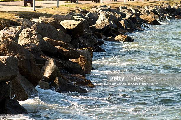 rocks in sea - filho stock pictures, royalty-free photos & images
