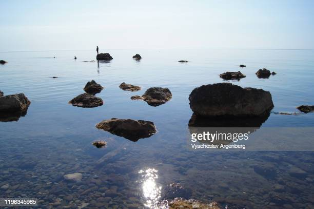 rocks in the sea, crimea - argenberg stock pictures, royalty-free photos & images