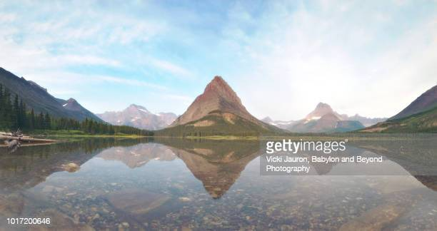 Rocks in the Water and Reflections at Swiftcurrent Lake, Glacier National Park