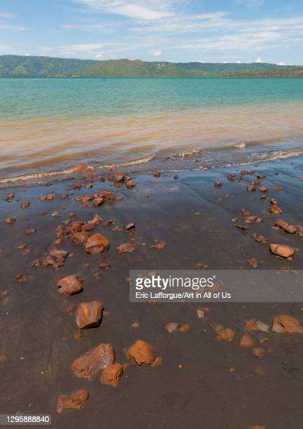 Rocks on a beach, East New Britain Province, Rabaul, Papua New Guinea on September 30, 2009 in Rabaul, Papua New Guinea.