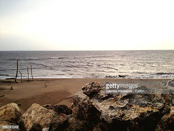 rocks on beach - barranquilla stock pictures, royalty-free photos & images