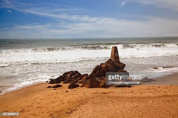 Rocks on the beach, Visakhapatnam, Andhra Pradesh, India.