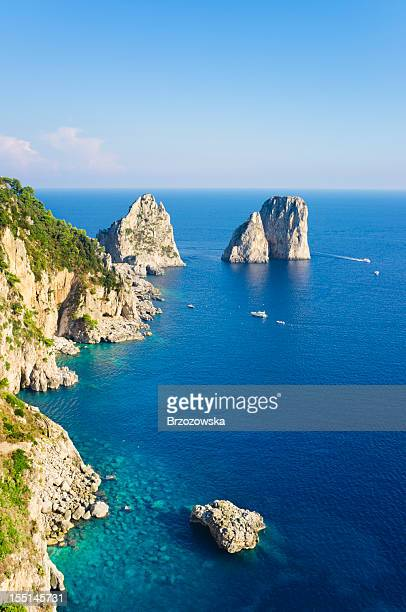 rocks (capri island) - capri stock pictures, royalty-free photos & images
