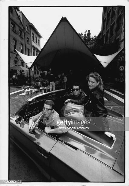 Rocks Rock 'N Roll Day Lead up to SundayFrom left to right Simon Stollery Tony Cogin Nikki Ireland Sitting in a 1965 Thunderbird Down at the Rocks...