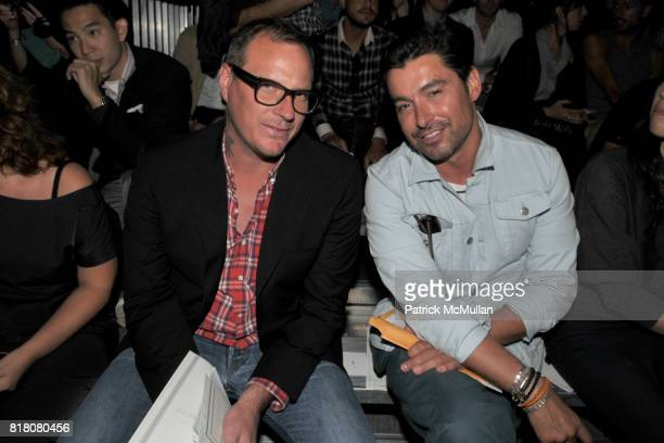 Rockwell Harwood and Alex Badia attend 31 PHILLIP LIM Men's Spring 2011 Fashion Show at 145 West 32 St on September 10th 2010 in New York City
