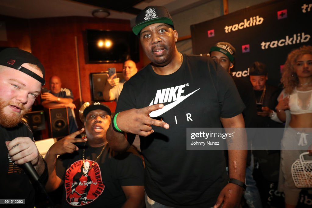 Rockwilder and Erick Sermon attend the Tracklib Producer Session at