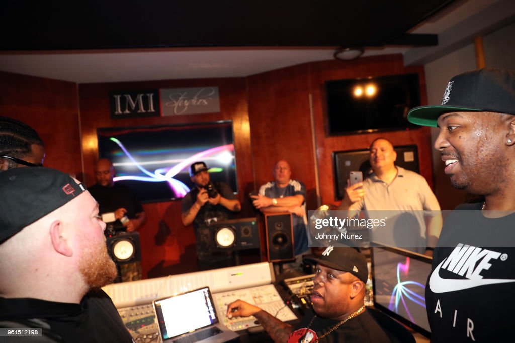 Rockwilder and Erick Sermon attend the Tracklib Producer