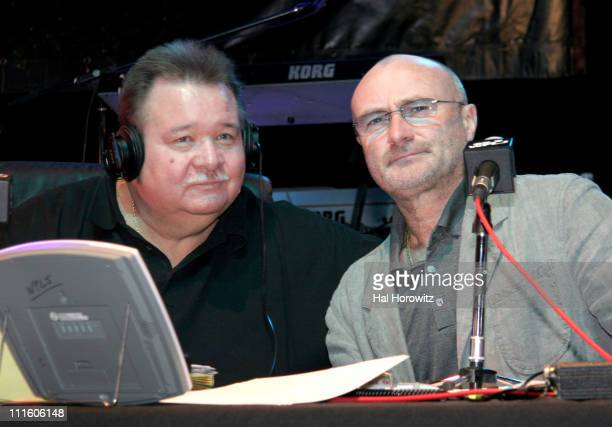 Rocky Allen and Phil Collins during 955 WPLJ's Rocky Allen Showgram Celebrates Their 2nd First Annual Showgram Anniversary Show at Hard Rock Cafe in...