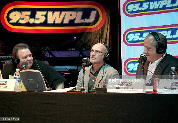 Rocky Allen Phil Collins and Blaine Ensley during 955 WPLJ's Rocky Allen Showgram Celebrates Their 2nd First Annual Showgram Anniversary Show at Hard...
