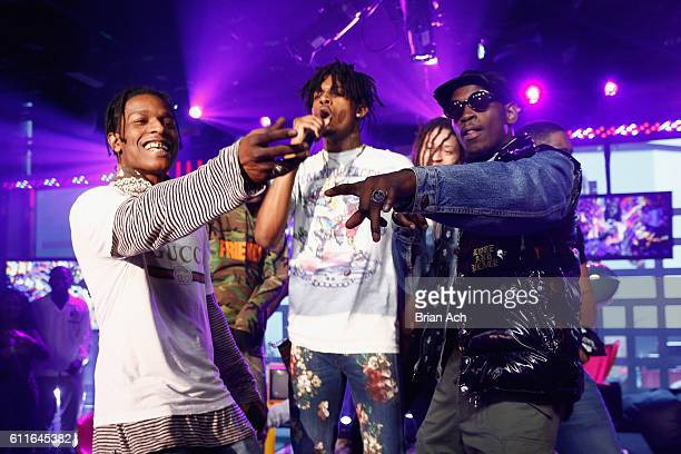 Rocky and A$AP Mob perform at MTV Studios on September 30 2016 in New York City