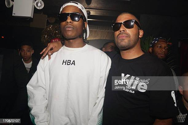 A$AP Rocky and Adriel Ortiz attend Lil Charlie's on June 18 2013 in New York City
