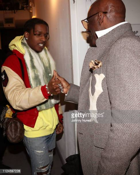 Rocky and Dapper Dan backstage at Stoop Talks with A$AP Rocky Dapper Dan at Terminal 5 on February 12 2019 in New York City