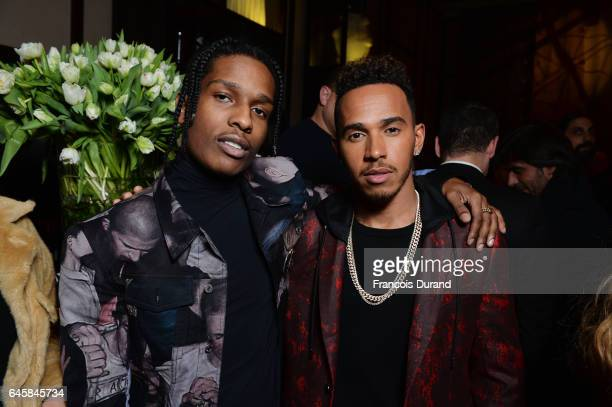 Rocky and Lewis Hamilton attend the Dior Homme Menswear Aftershow Cocktail Dinner Fall/Winter 20172018 show as part of Paris Fashion Week on January...