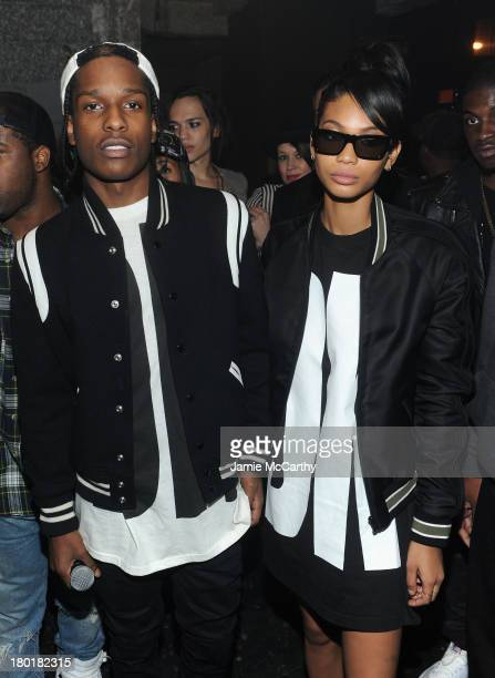Rocky and model Chanel Iman attend the #DKNY25 Birthday Bash on September 9 2013 in New York City