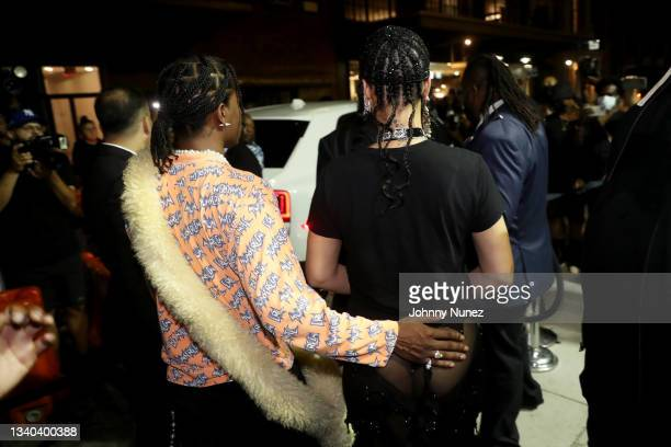 Rocky and Rihanna attend Rihanna's Met Gala After Party on September 13, 2021 in New York City.