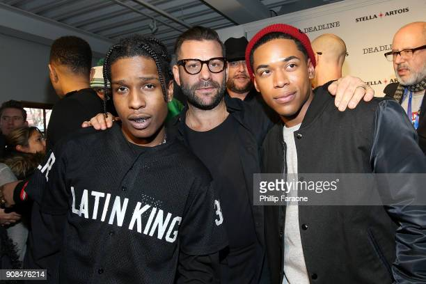 ASAP Rocky Anthony Mandler and Kelvin Harrison Jr join the cast of Monster in a live QA hosted by Stella Artois and Deadlinecom at Cafe Artois during...