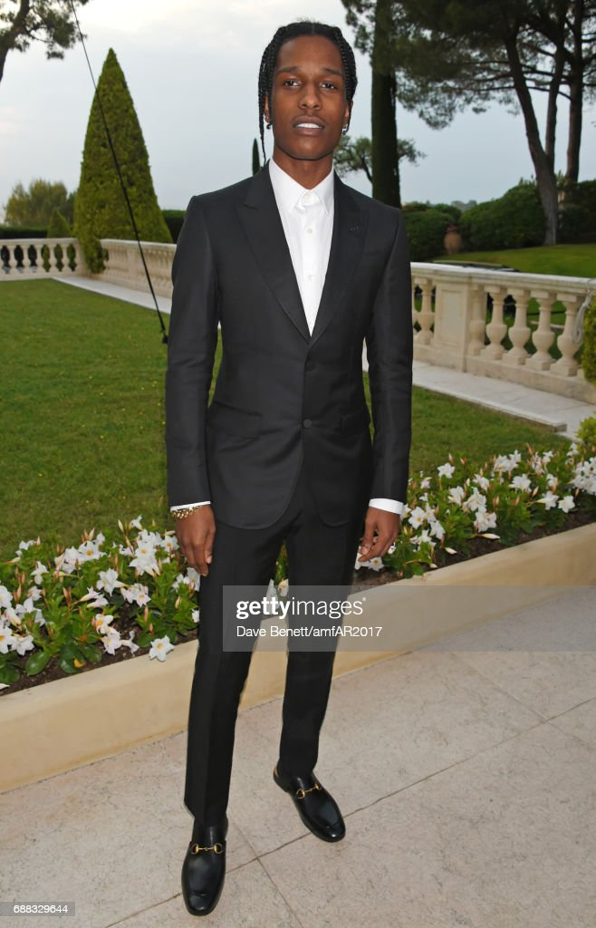 A$AP Rocky arrives at the amfAR Gala Cannes 2017 at Hotel du Cap-Eden-Roc on May 25, 2017 in Cap d'Antibes, France.