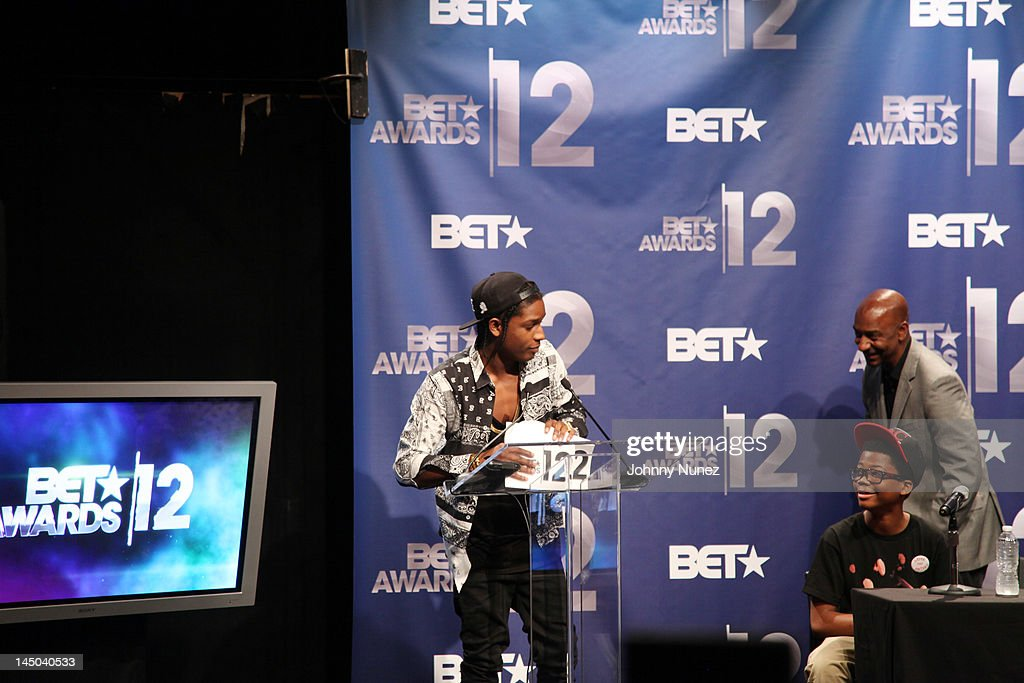 Rocky, Astro, and Stephen Hill attend the BET Awards '12