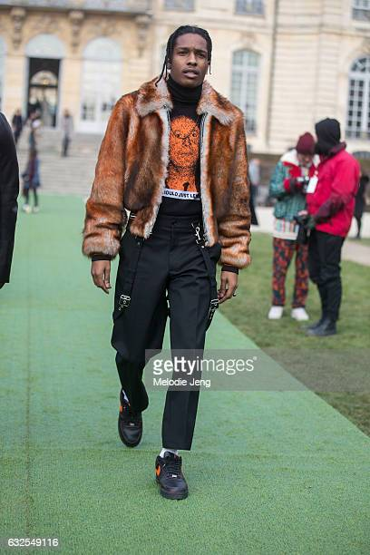 Rocky at the Dior Couture show at Musee Rodin on January 23, 2017 in Paris, France.