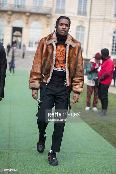 Rocky at the Dior Couture show at Musee Rodin on January 23 2017 in Paris France