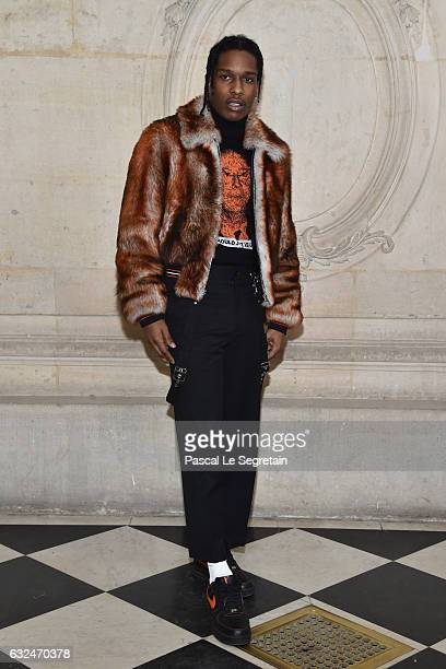 Rocky attends the Christian Dior Haute Couture Spring Summer 2017 show as part of Paris Fashion Week on January 23 2017 in Paris France
