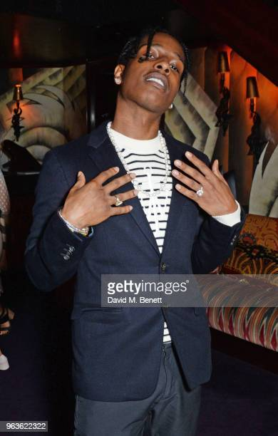 Rocky attends the Dior Backstage launch party at Loulou's on May 29 2018 in London England
