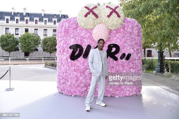Rocky attends the Dior Homme Menswear Spring/Summer 2019 show as part of Paris Fashion Week on June 23 2018 in Paris France