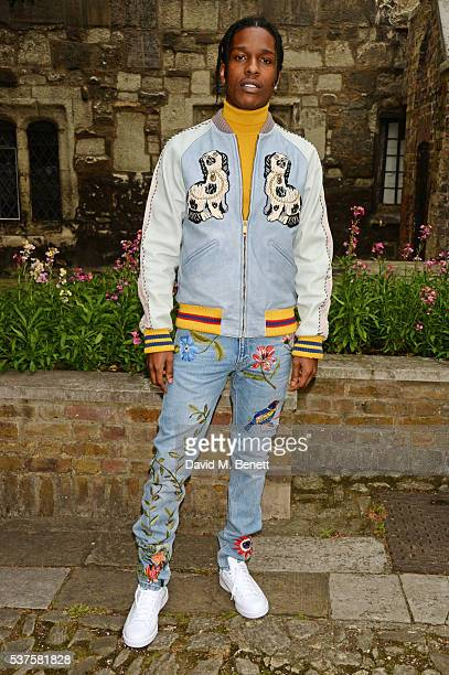 Rocky attends the Gucci Cruise 2017 fashion show at the Cloisters of Westminster Abbey on June 2 2016 in London England