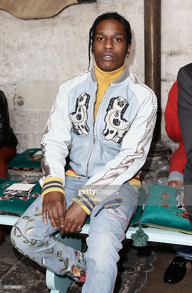 5560ebbf59de64 Rocky attends the Gucci Cruise 2017 fashion show at the Cloisters of ...