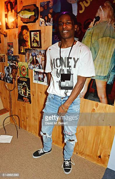 Rocky attends the launch of 1st GUESS Originals X A$AP Rocky collection within Selfridges on March 11 2016 in London England